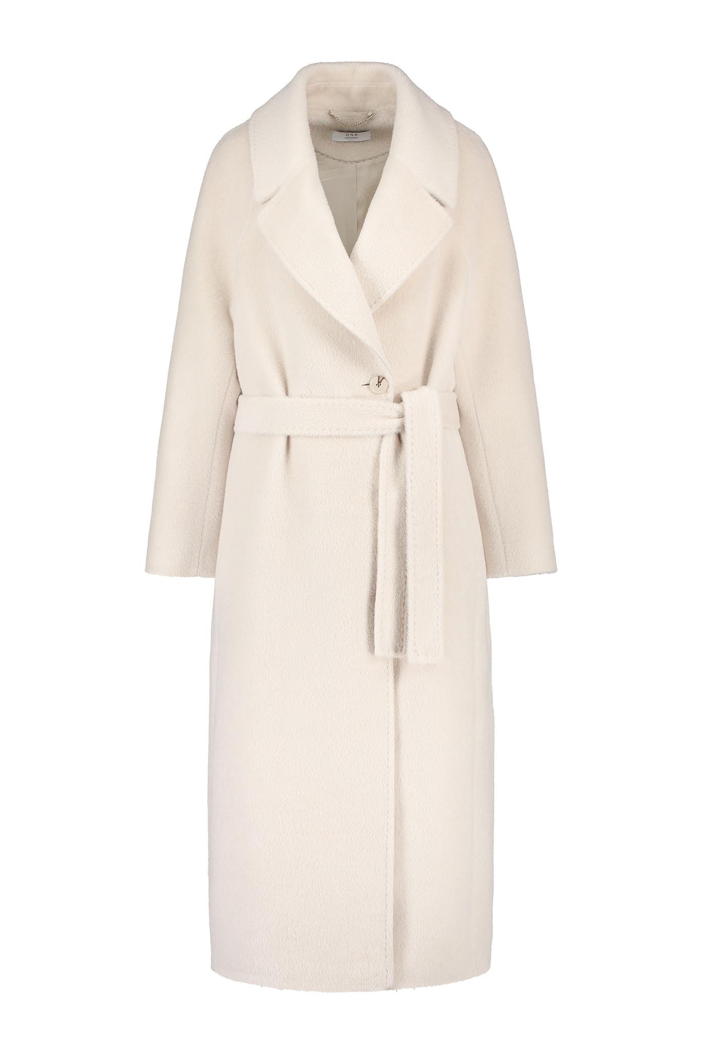 Elsa Coat with Belt - White Sand-1