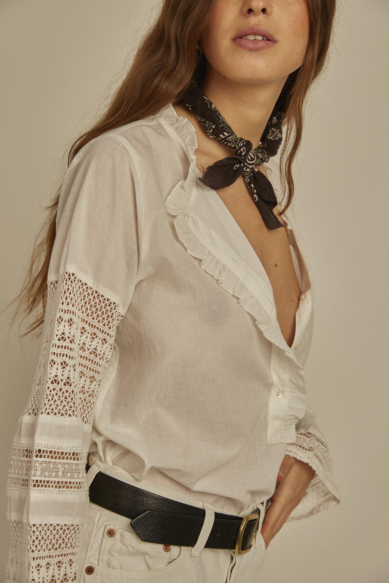 Virginie Blouse - Romantique Off White-4