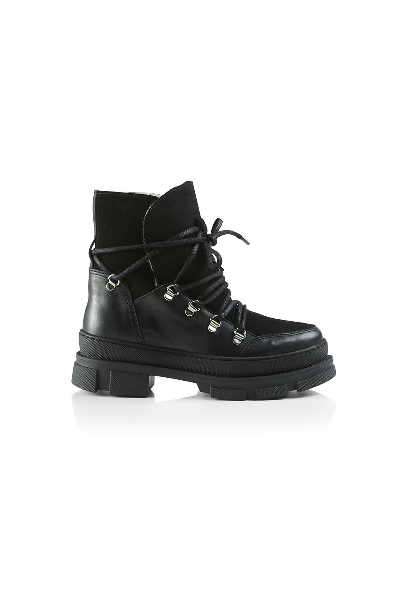 Kiara Wool Suede Boot - Black-1