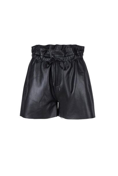 Palma Leather Short - Raven Black