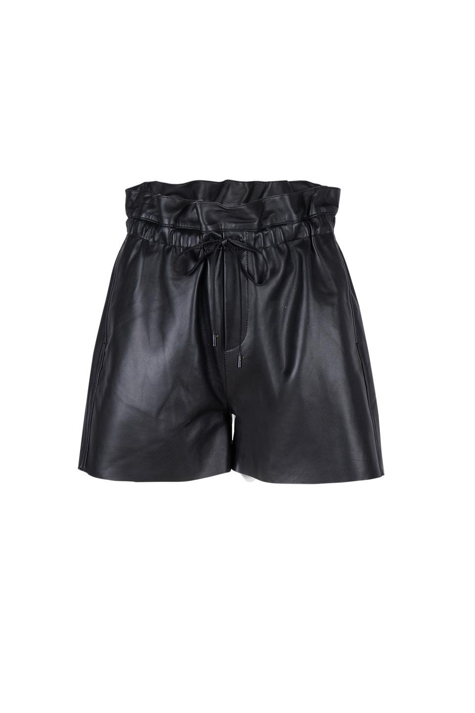 Palma Leather Short - Raven Black-1