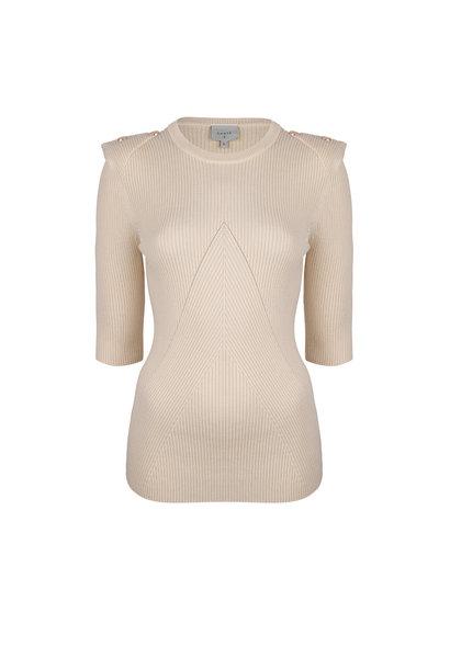 Sephine Detail Button Sweater - Bone
