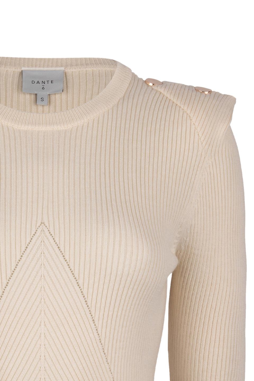 Sephine Detail Button Sweater - Bone-3