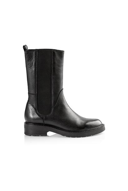 Ines Leather Boot - Black