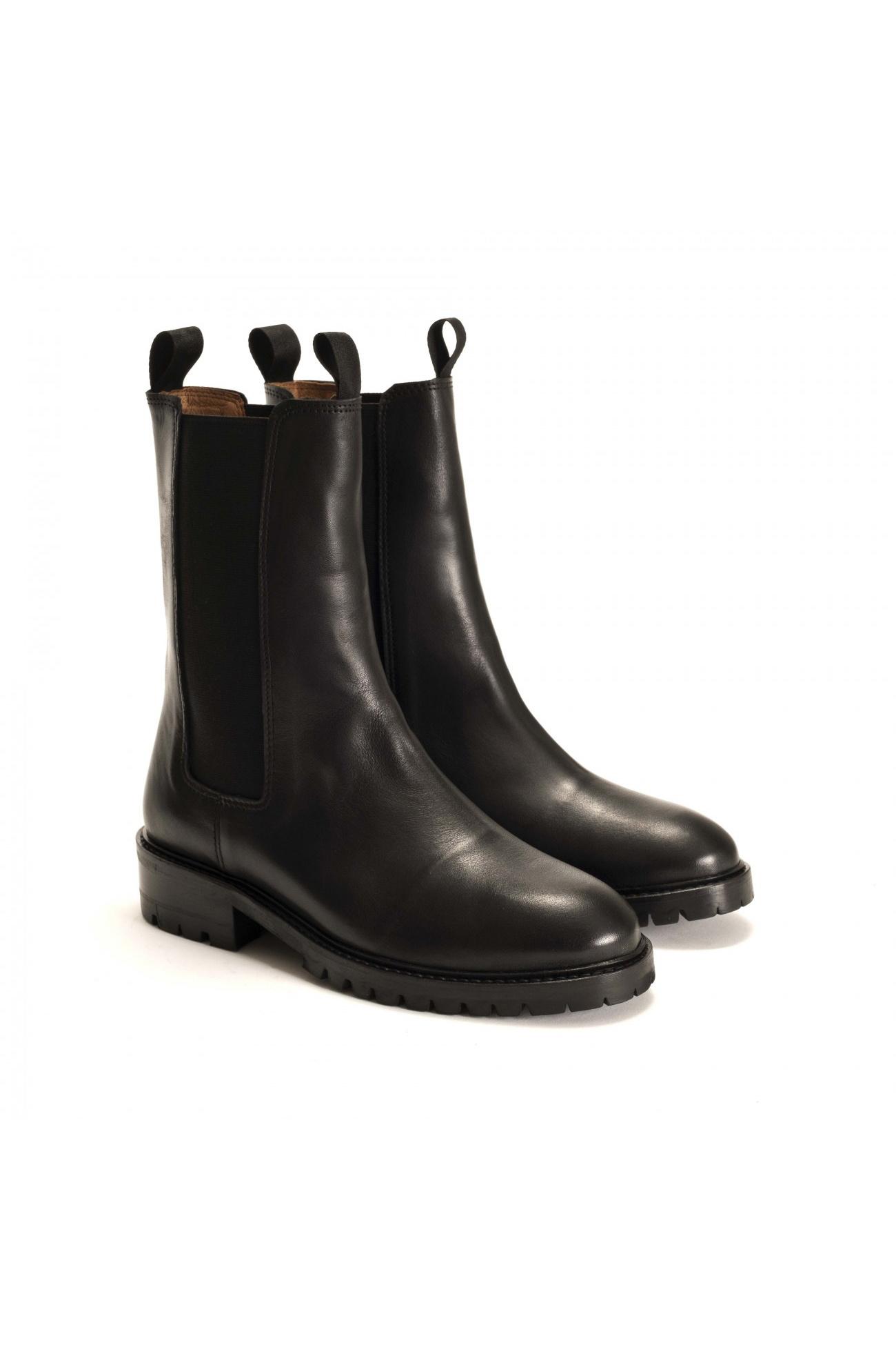 Haily Vegetable Tanned Boot - Black-3