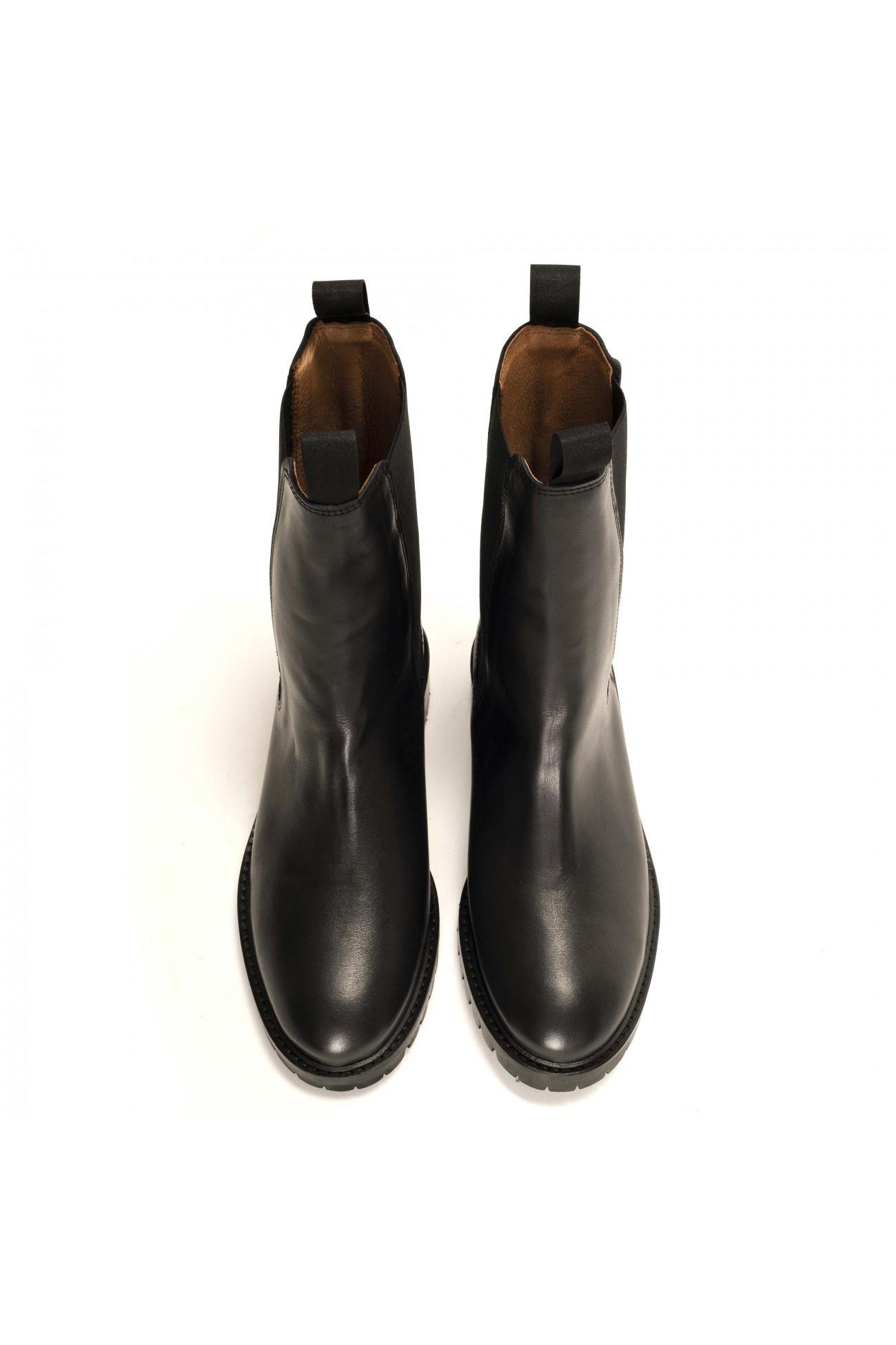 Haily Vegetable Tanned Boot - Black-4