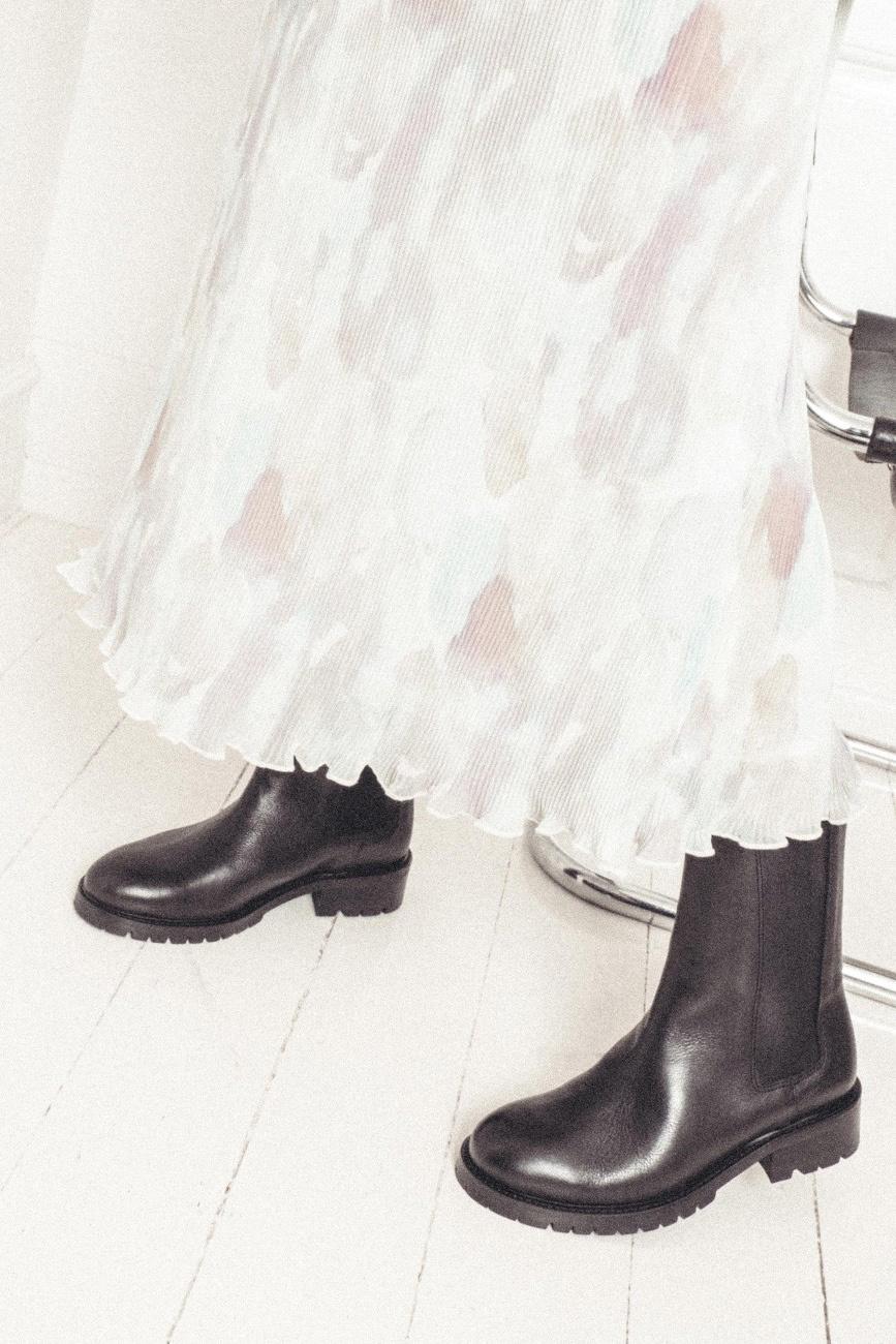 Haily Vegetable Tanned Boot - Black-6