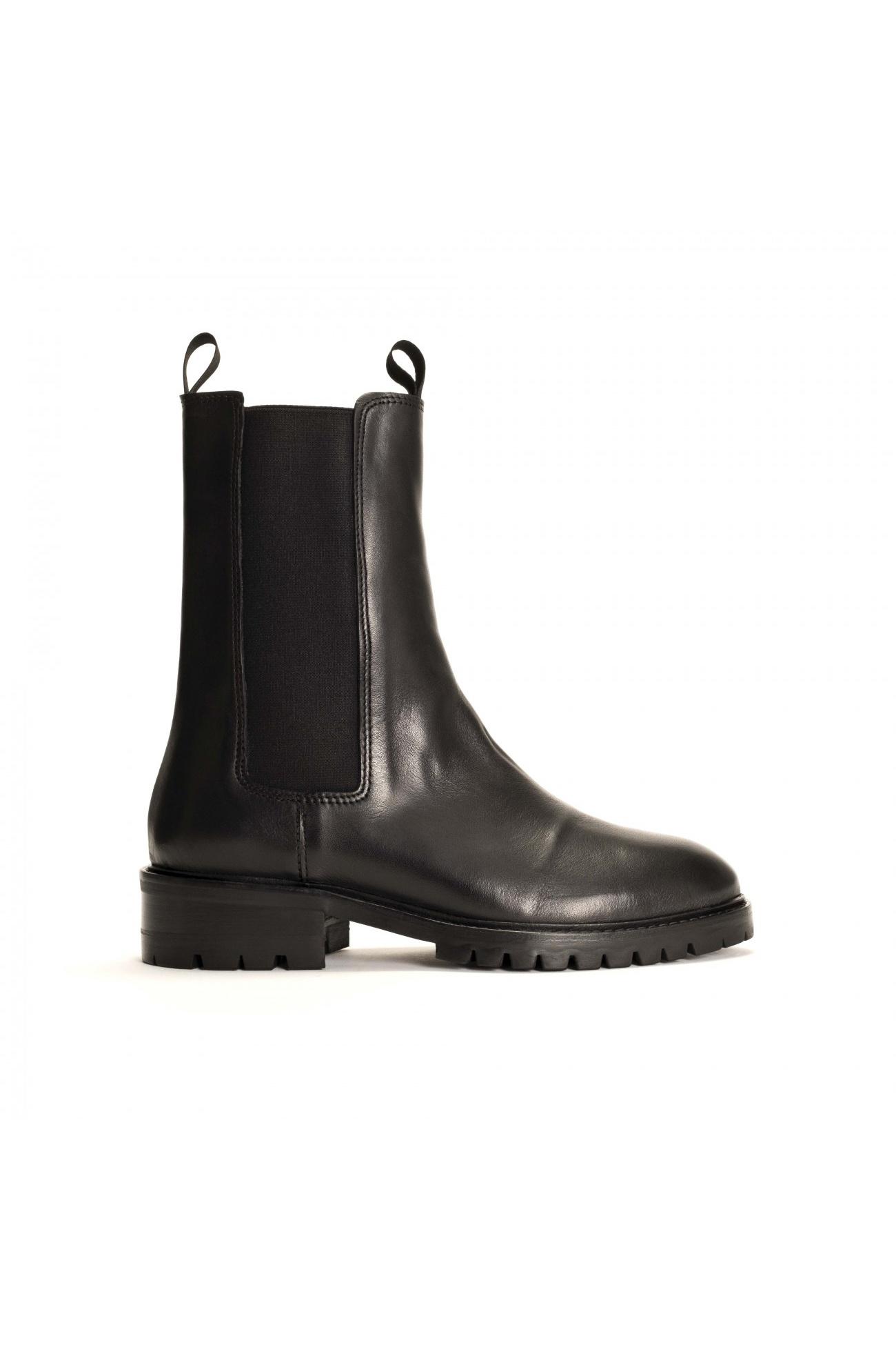 Haily Vegetable Tanned Boot - Black-1