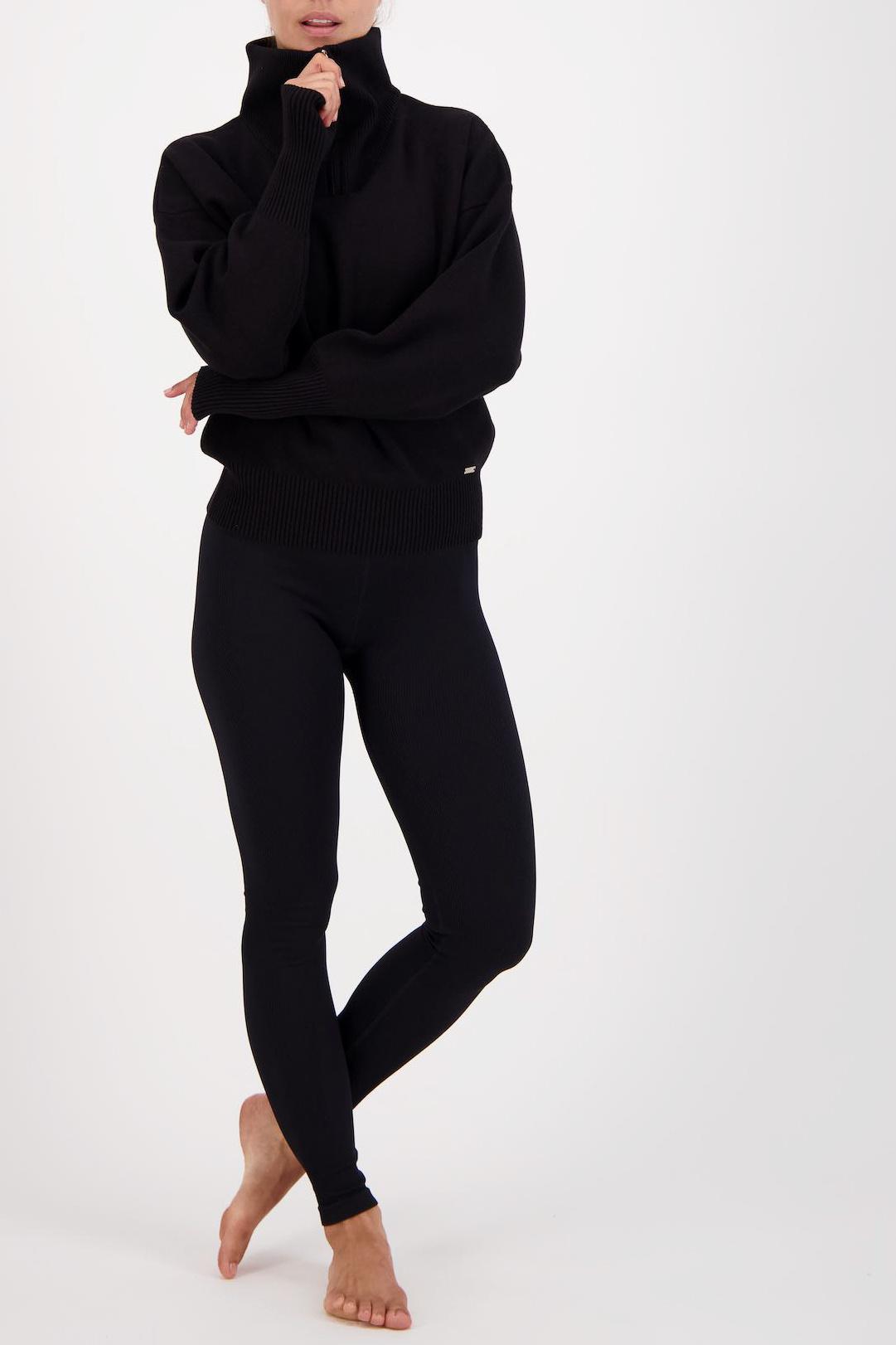 Olly Half-Zip Knit Sweater - Black-5
