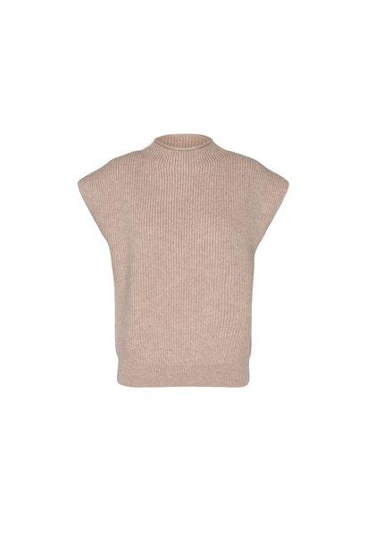 Row Wing Knit Vest - Bone