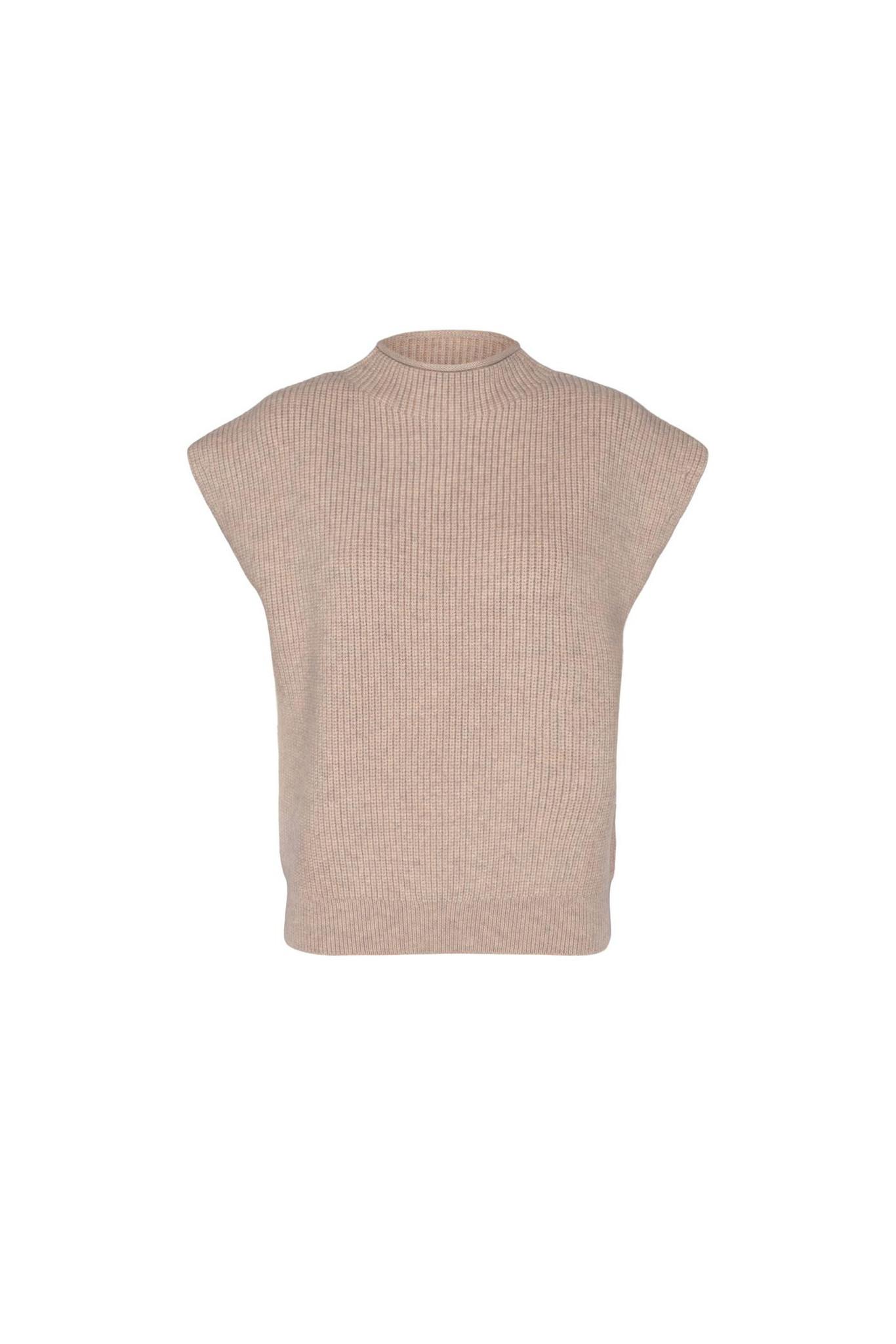 Row Wing Knit Vest - Bone-1