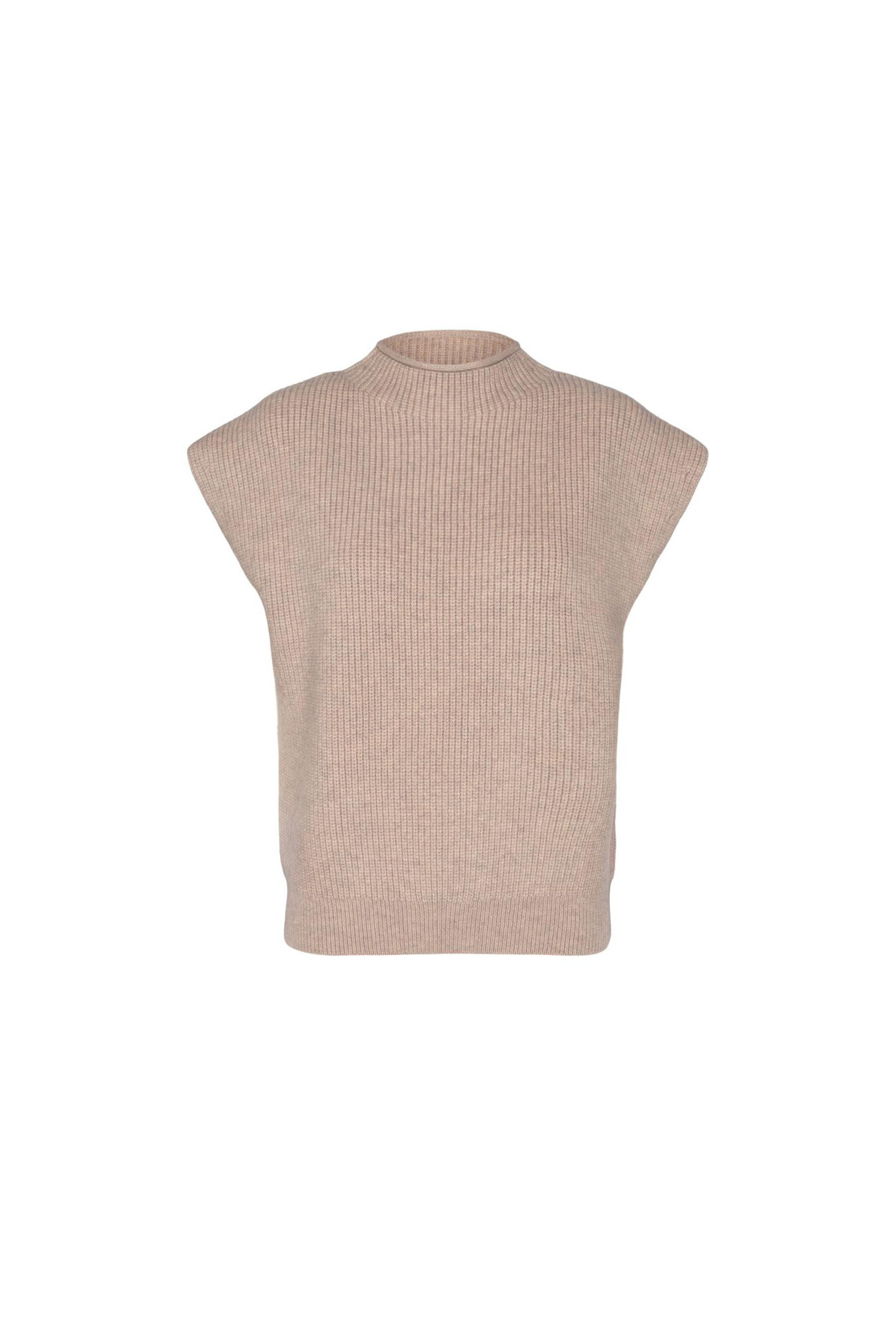 Row Wing Knit Top - Bone-1
