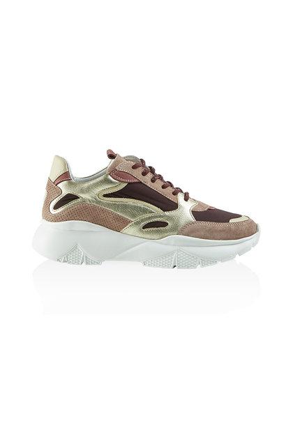 Kimmie Suede Sneaker - Bordeaux Combo