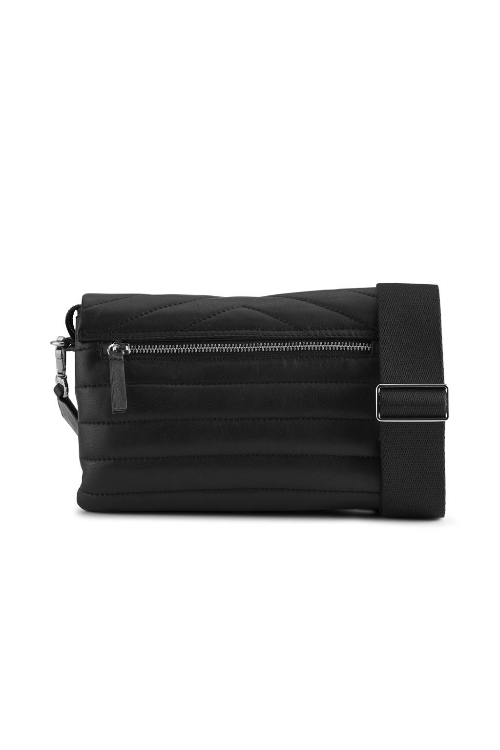 Susana Puffer Crossbody Bag - Black-4
