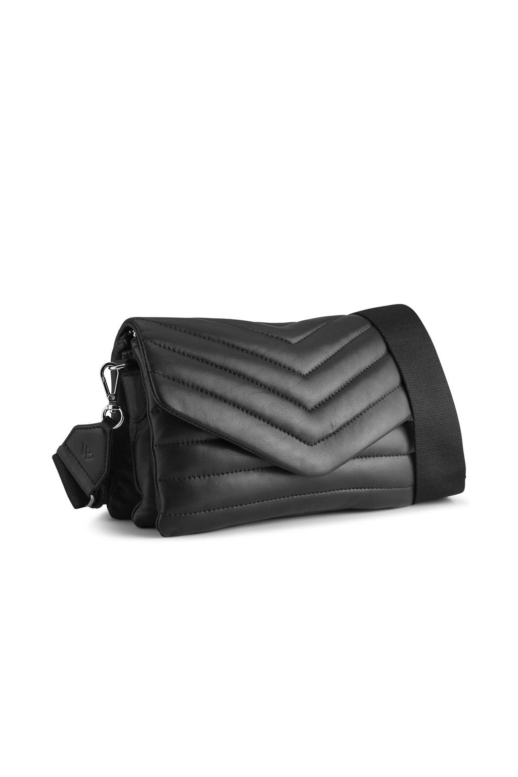 Susana Puffer Crossbody Bag - Black-2