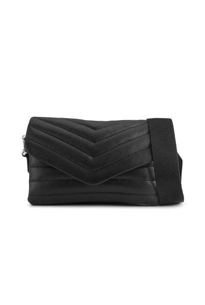 Susana Puffer Crossbody Bag - Black