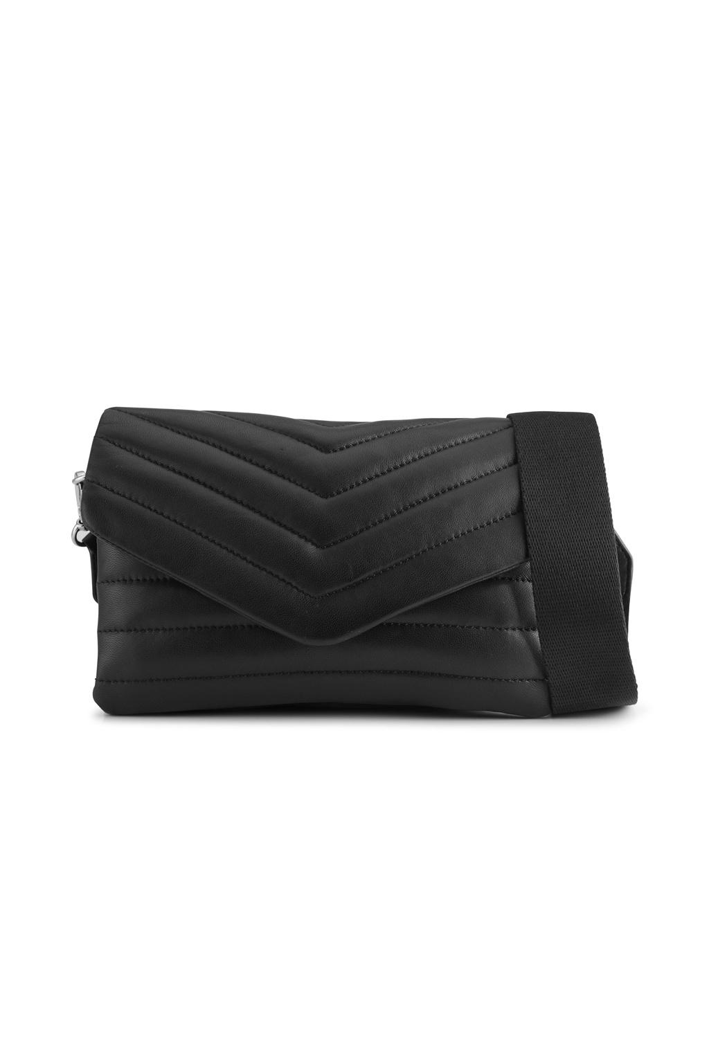 Susana Puffer Crossbody Bag - Black-1