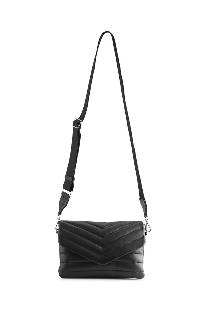 Susana Puffer Crossbody Bag - Black-5