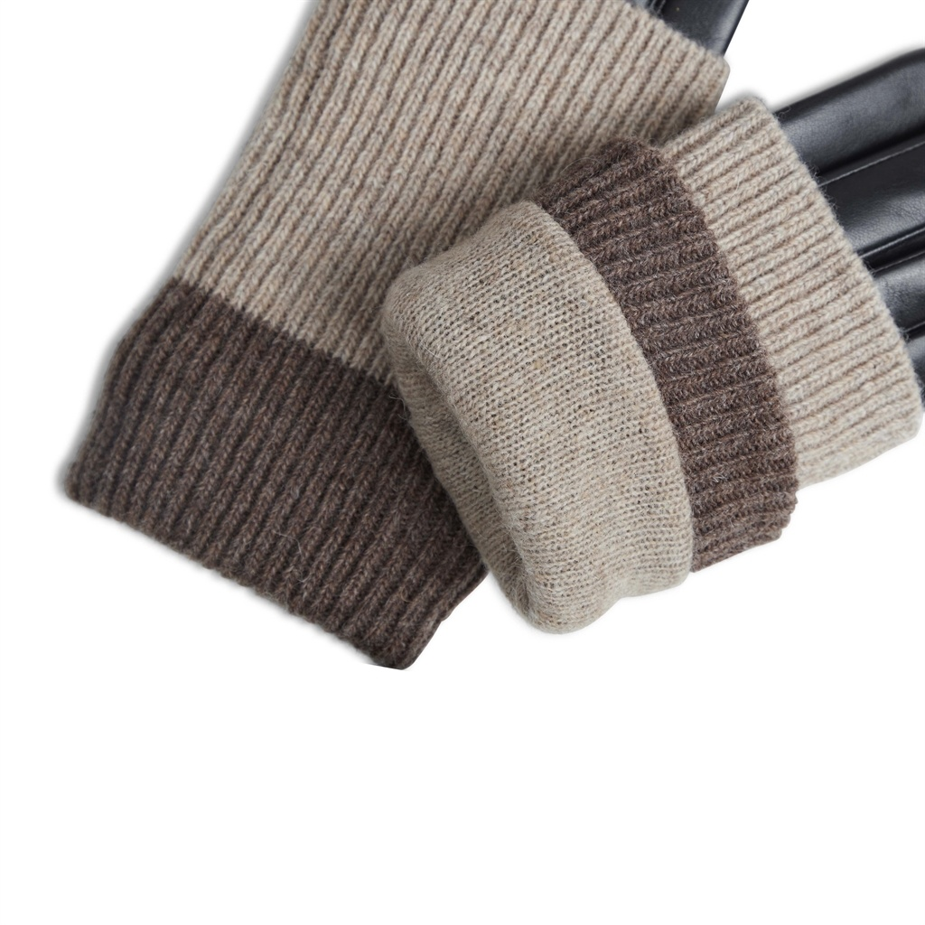 Helly Glove - Black w/ Creme + Hazel-4
