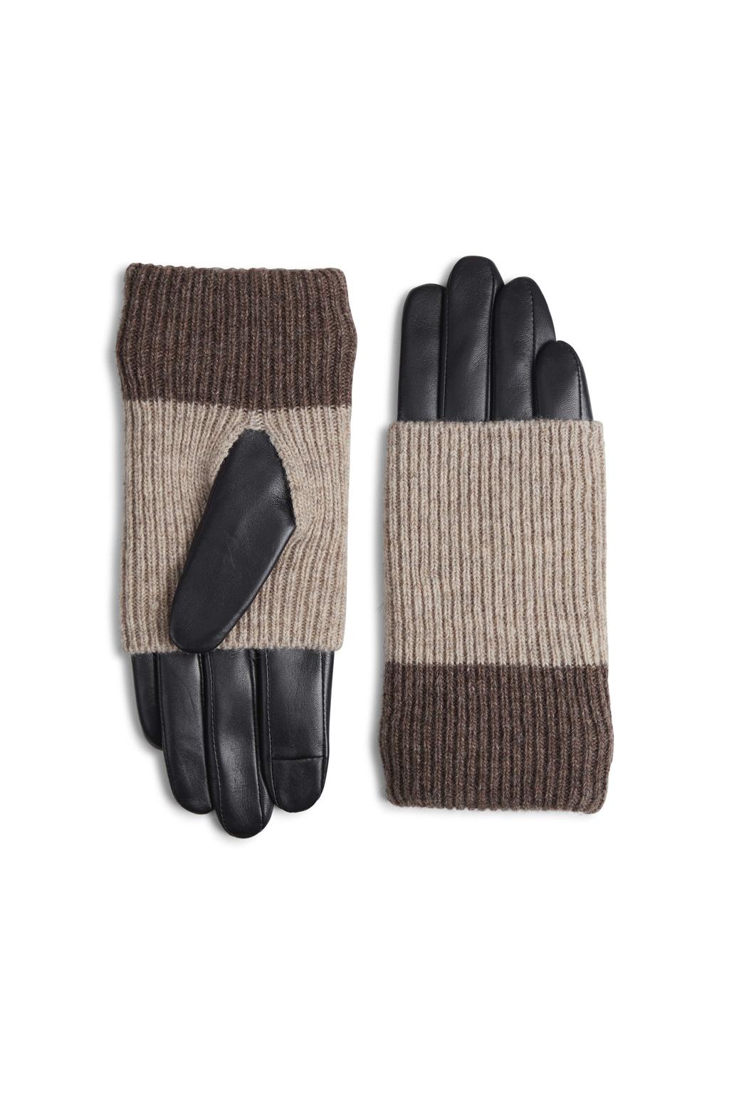 Helly Glove - Black w/ Creme + Hazel-2