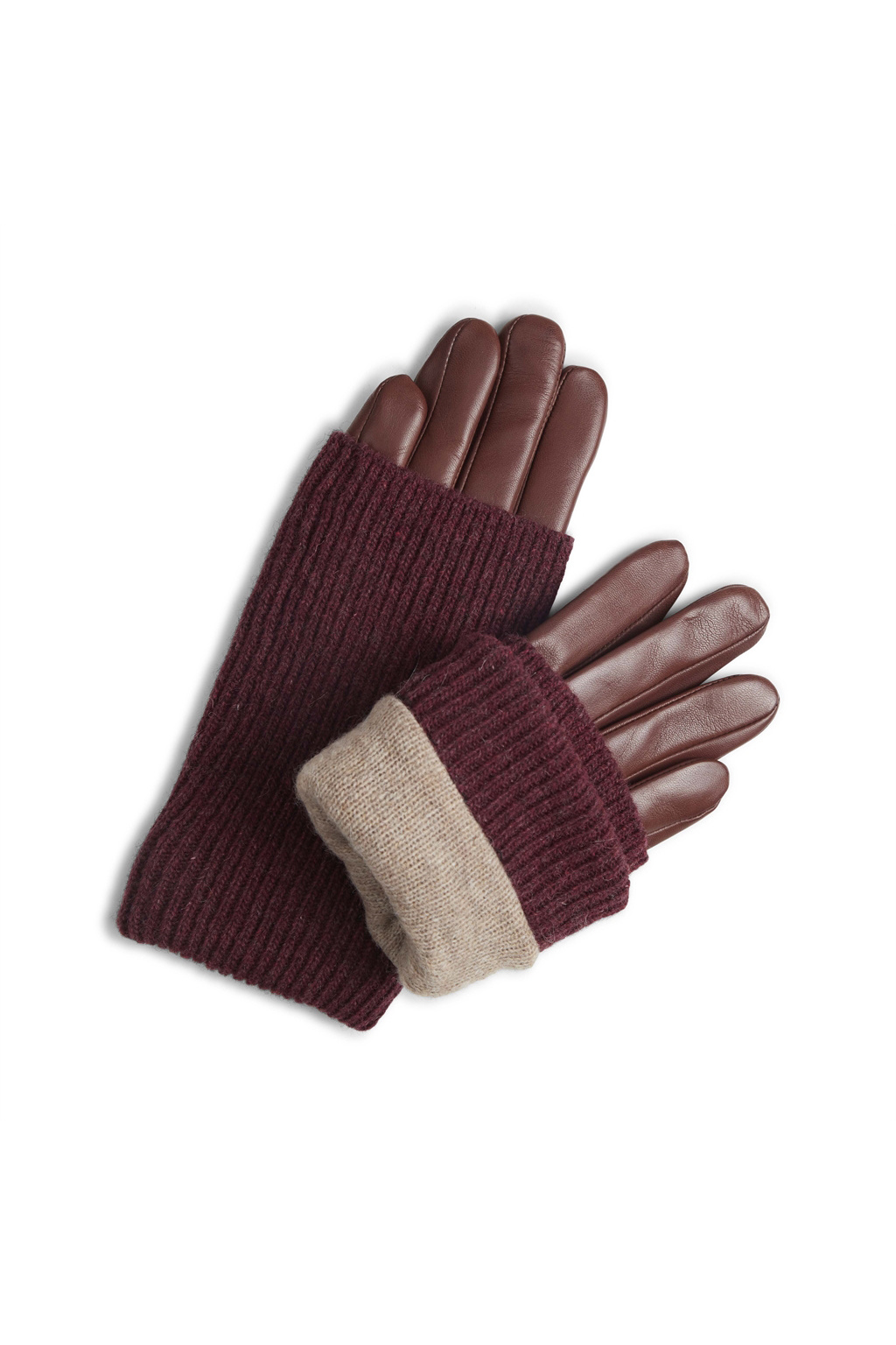 Helly Glove - Cognac w/ Burgundy-3