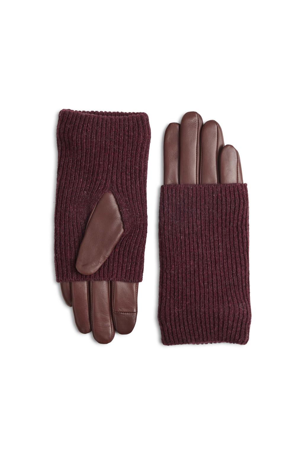 Helly Glove - Cognac w/ Burgundy-2