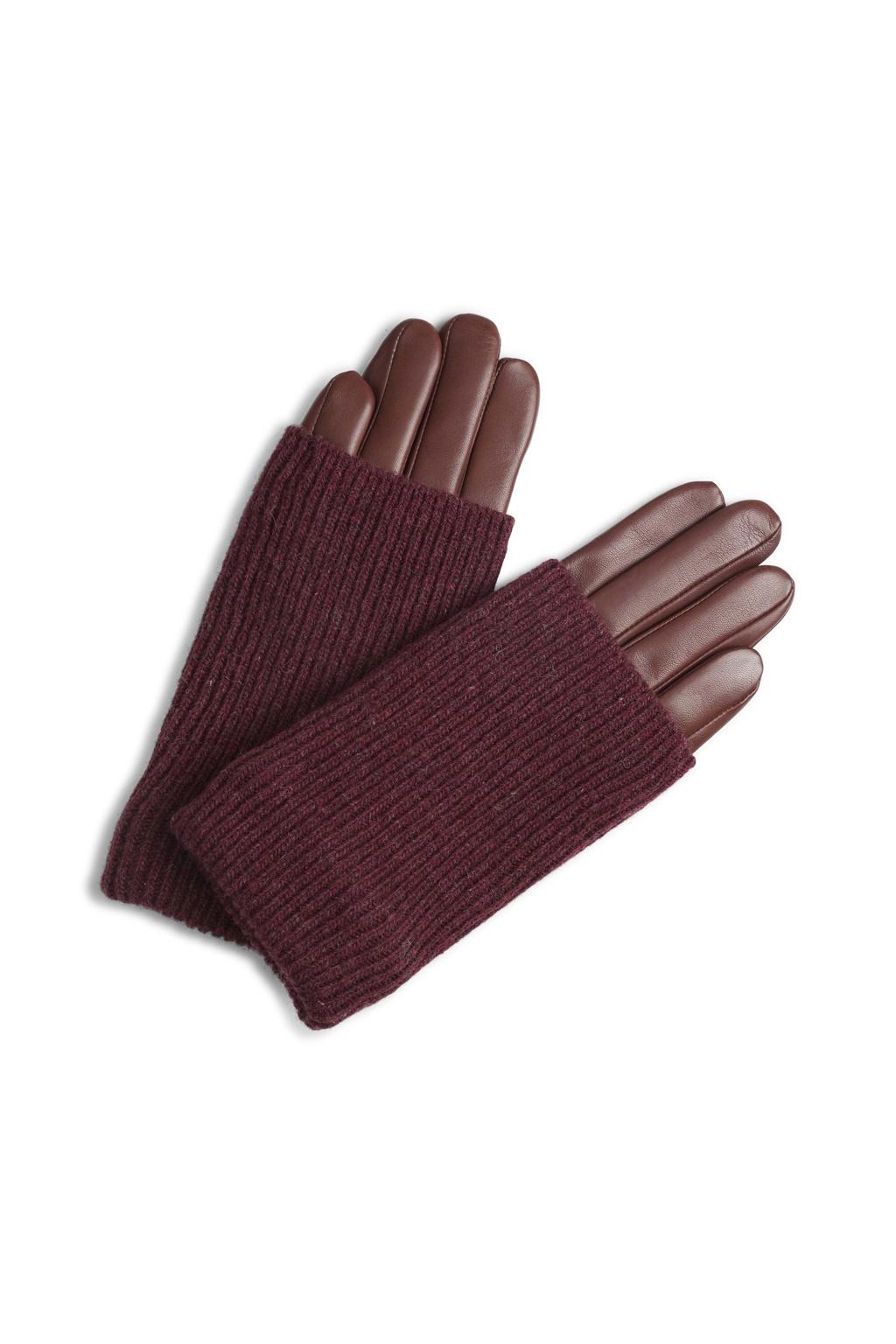 Helly Glove - Cognac w/ Burgundy-1