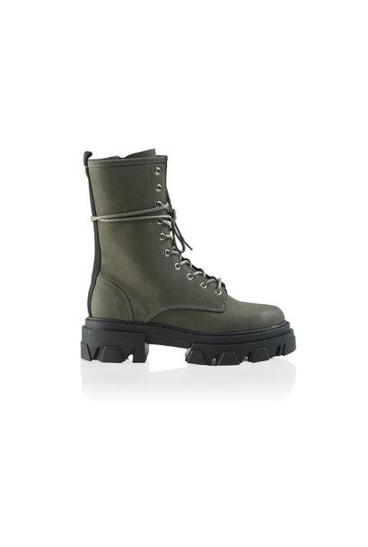 Antonella Nubuck Boot - Military