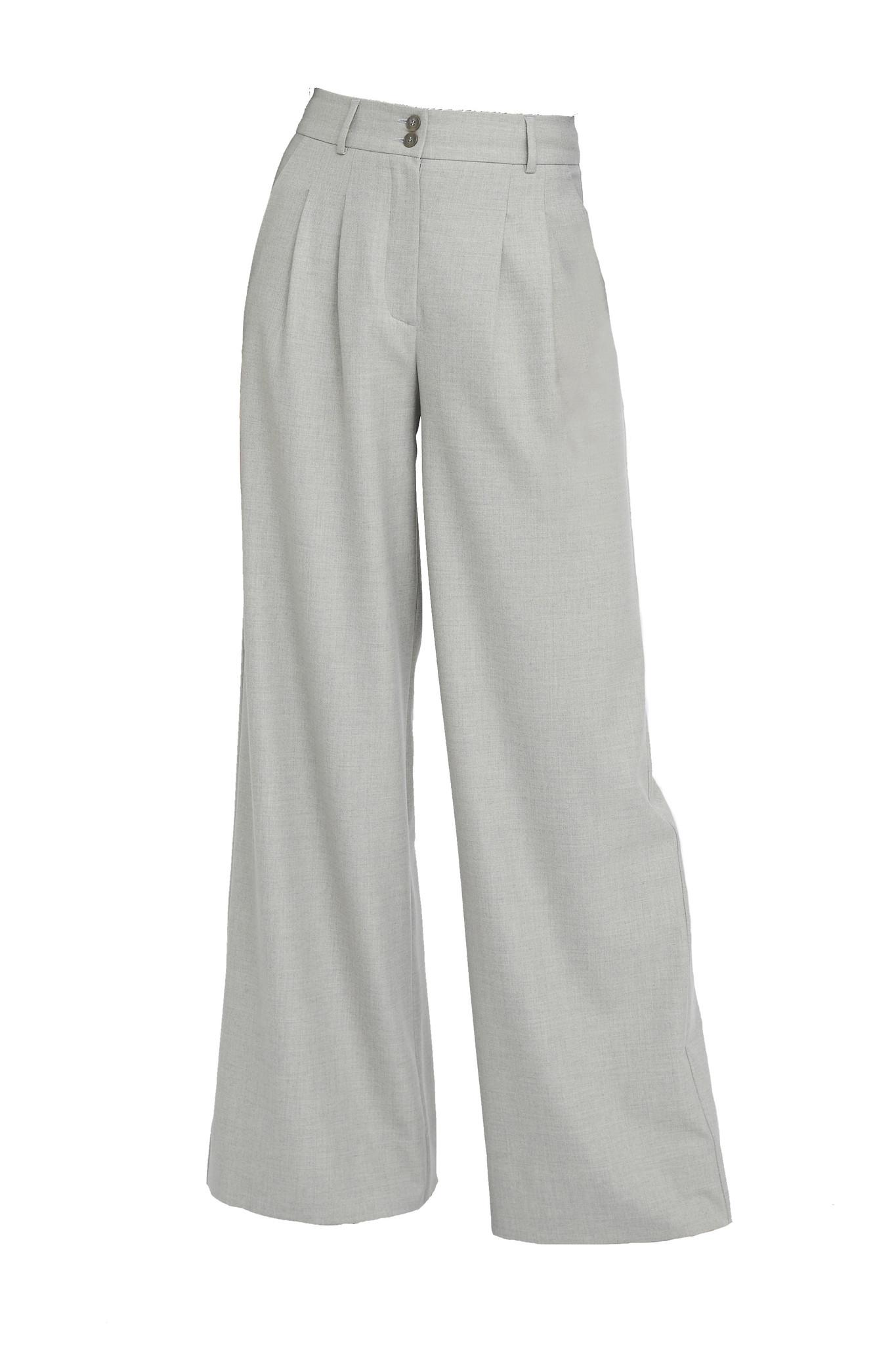 Karen 555 Wide Trouser - Misty Grey-1
