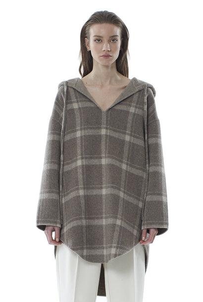 Robyn Wool Anorak - Sandstone Check