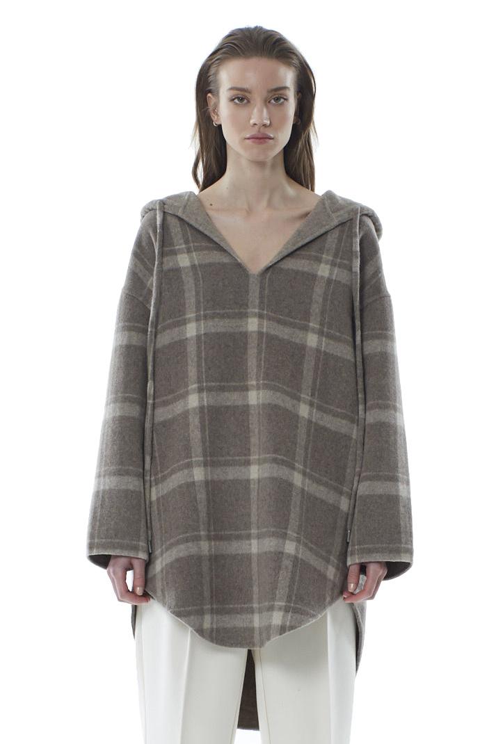 Robyn Wool Anorak - Sandstone Check-1