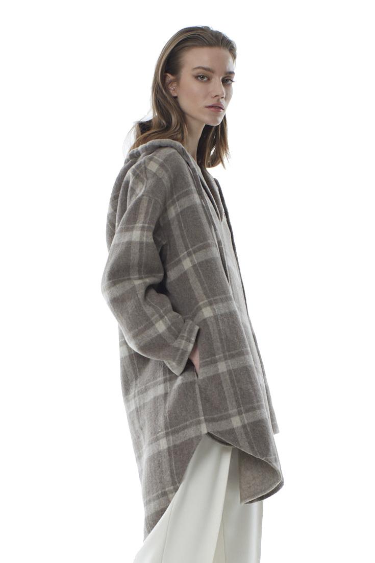 Robyn Wool Anorak - Sandstone Check-2