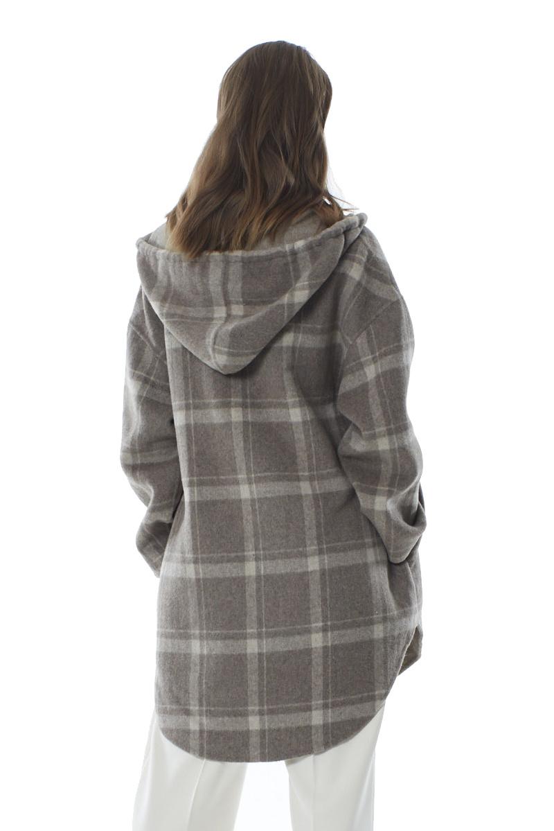 Robyn Wool Anorak - Sandstone Check-3