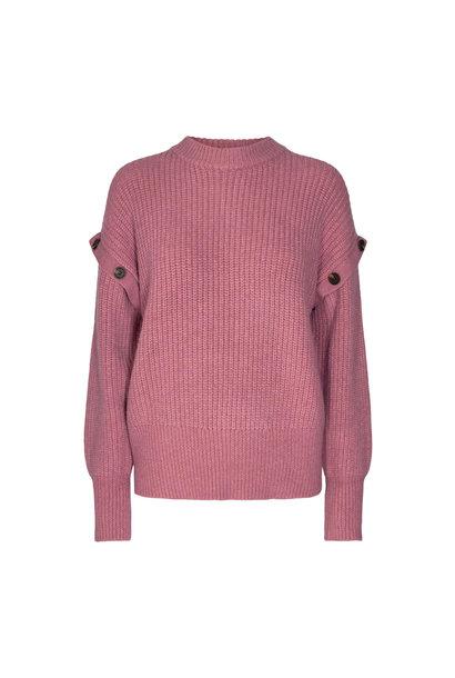 Rowie Button Knit Trui - Roze