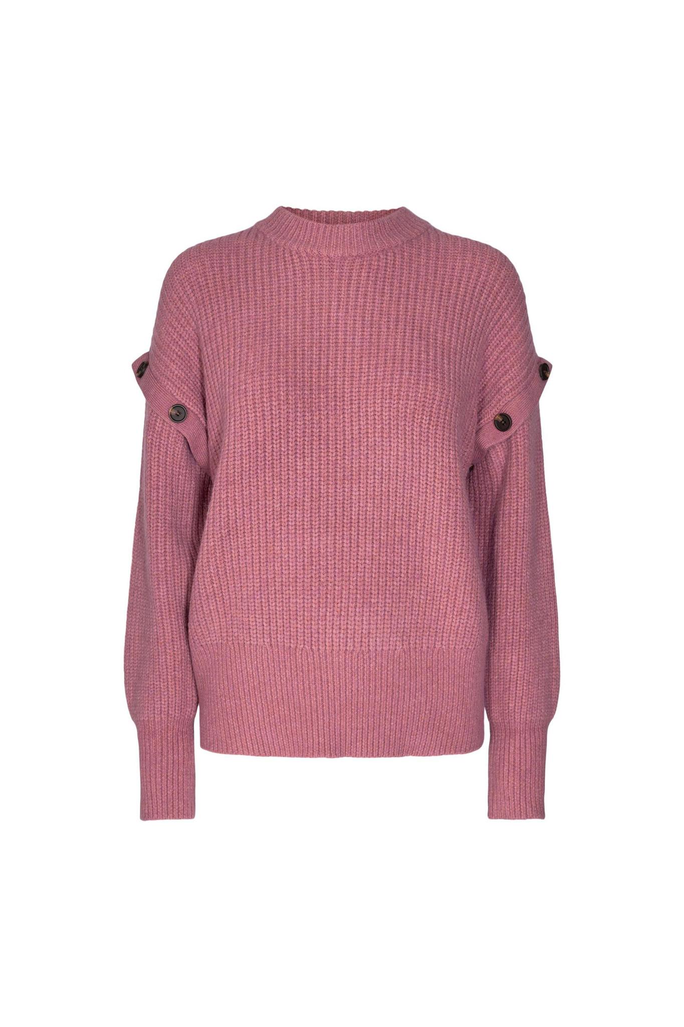 Rowie Button Knit - Pink-1
