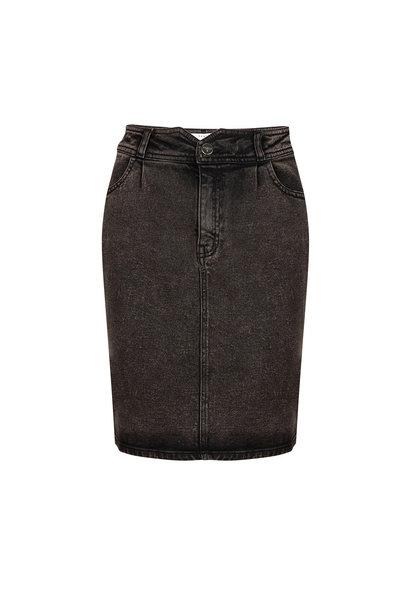 Emily Snow Wash Skirt - Raven Black