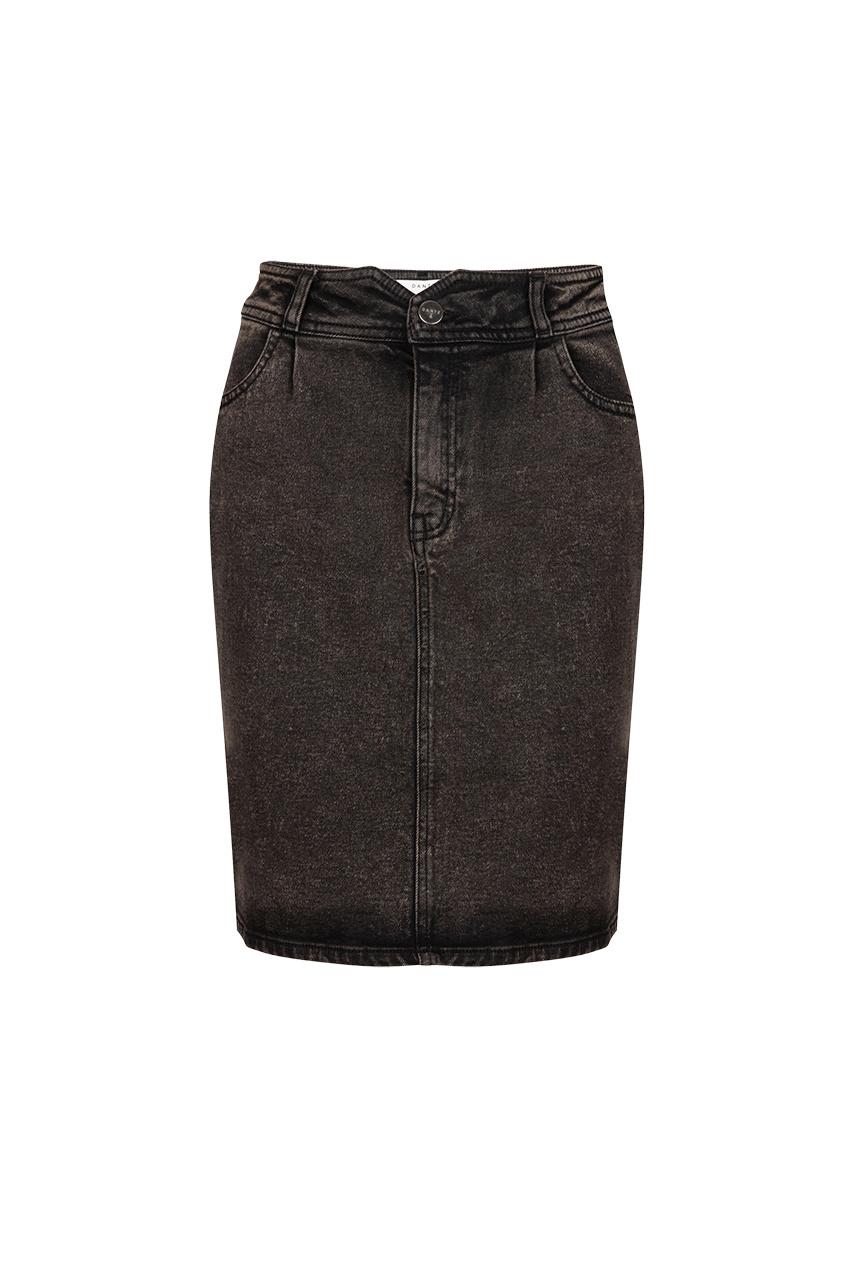 Emily Snow Wash Skirt - Raven Black-1