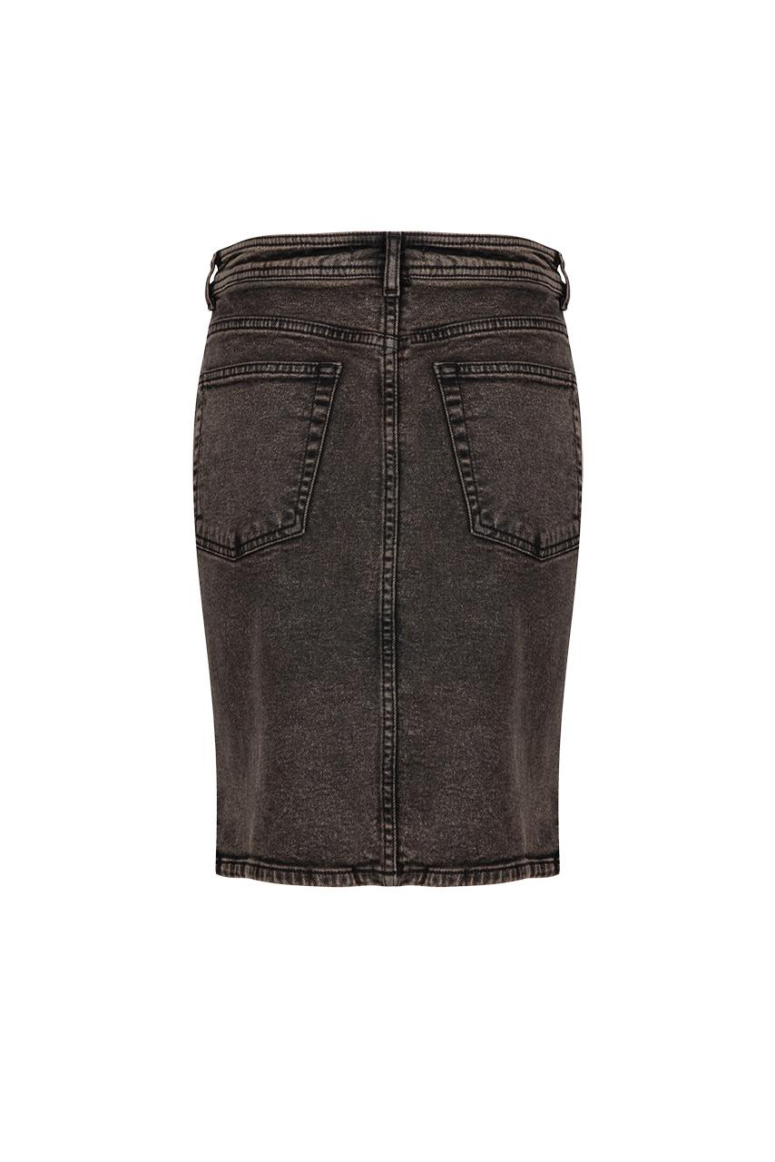 Emily Snow Wash Skirt - Raven Black-4