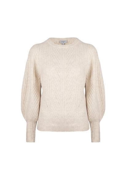 Salai Cable Sweater - Bone