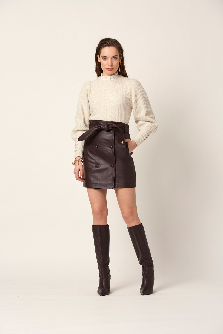 Salai Cable Sweater - Bone-2