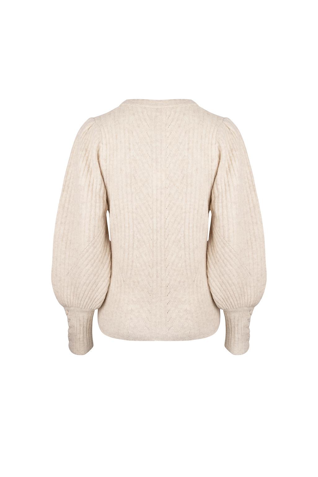 Salai Cable Sweater - Bone-3