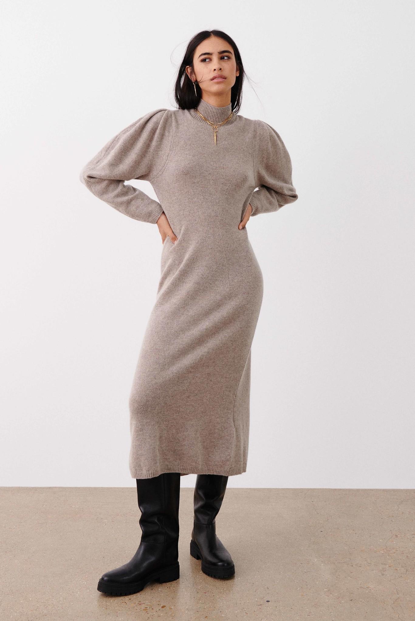 Felicity Dress - Beige-2