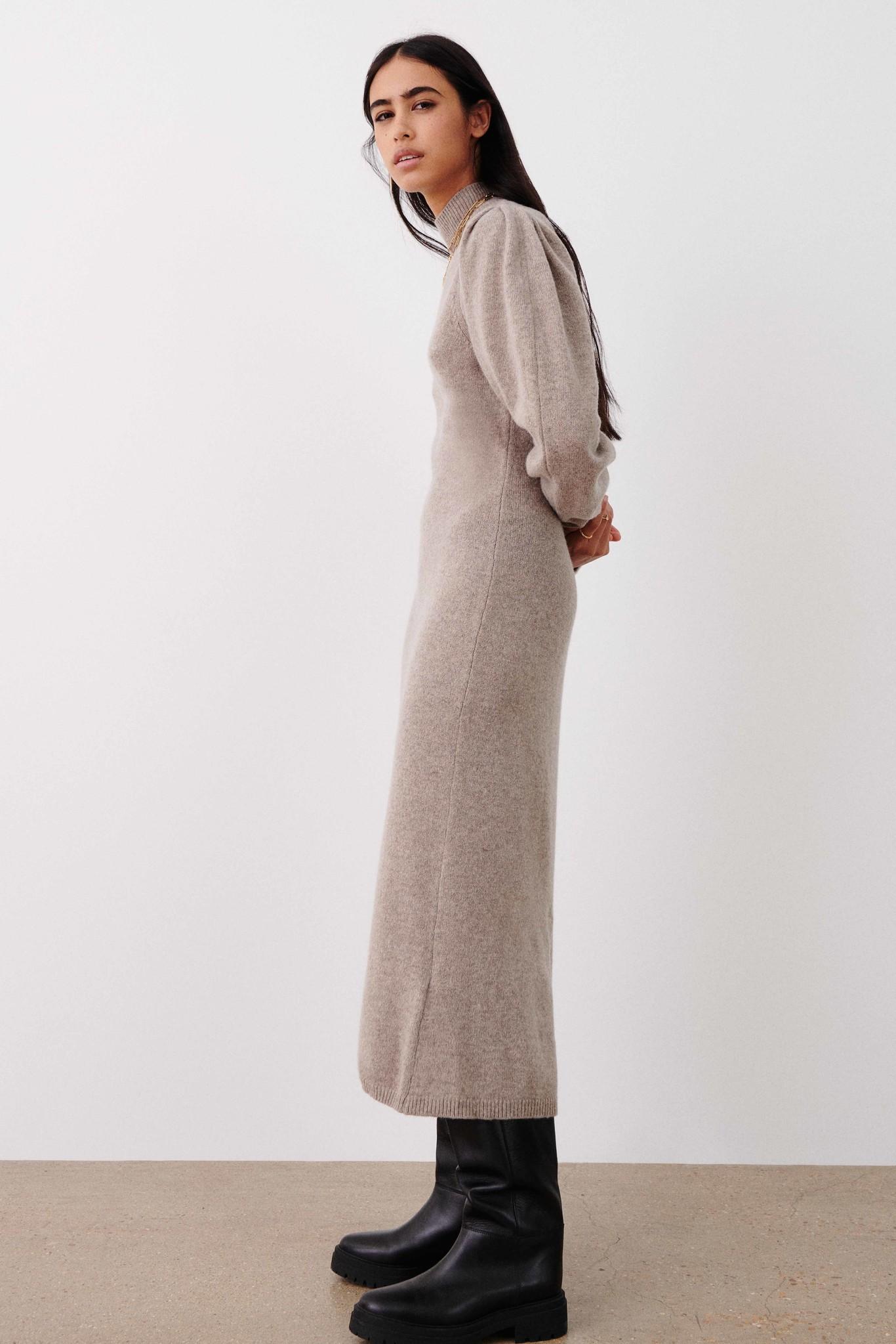 Felicity Dress - Beige-4