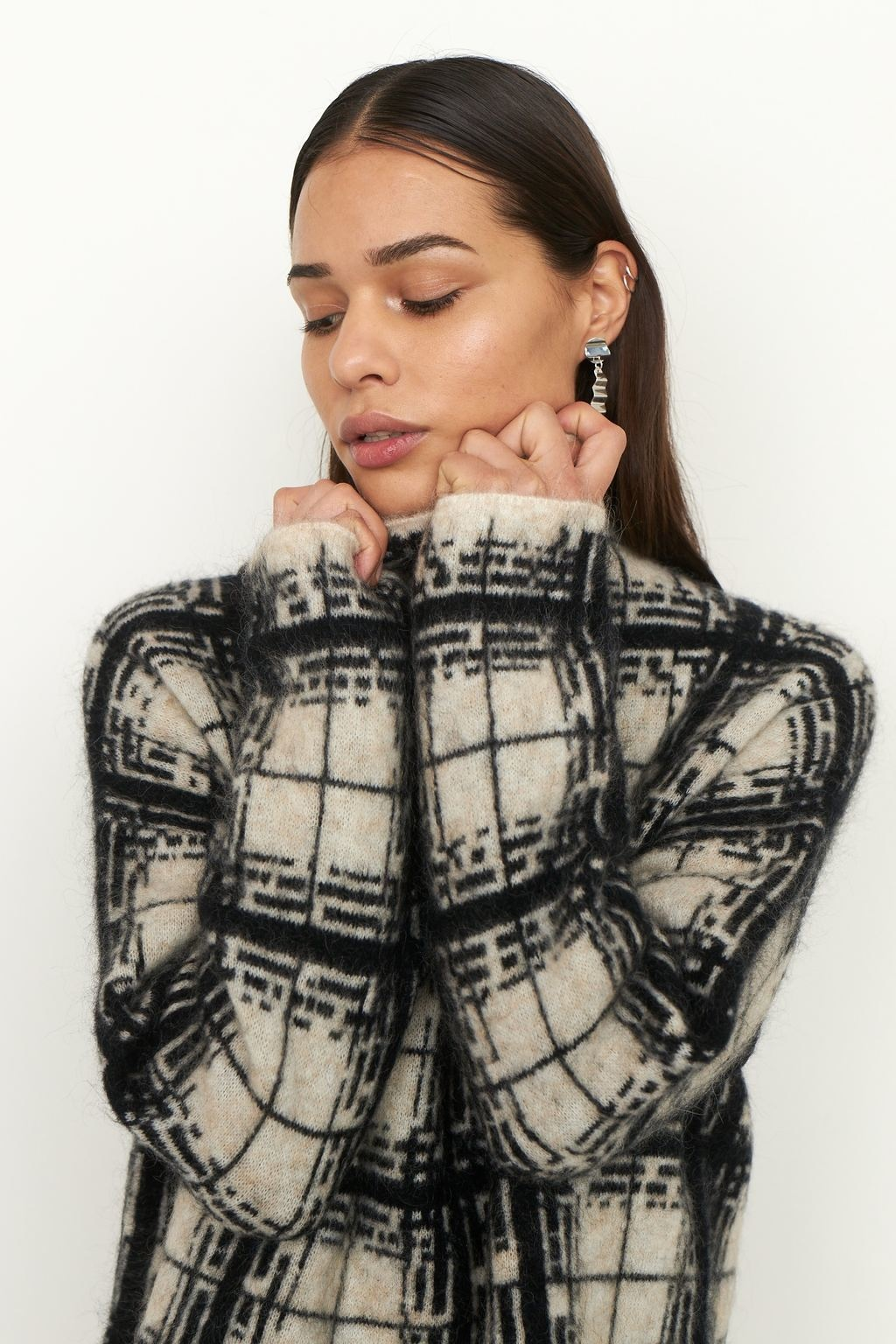 Louisa Knit T-Neck - Black-3