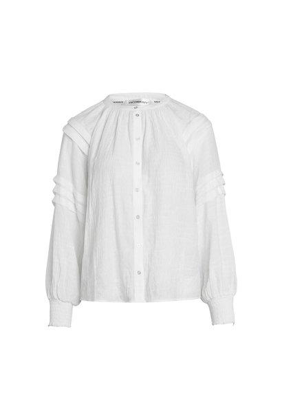 Cora Pleat Shirt - Off White