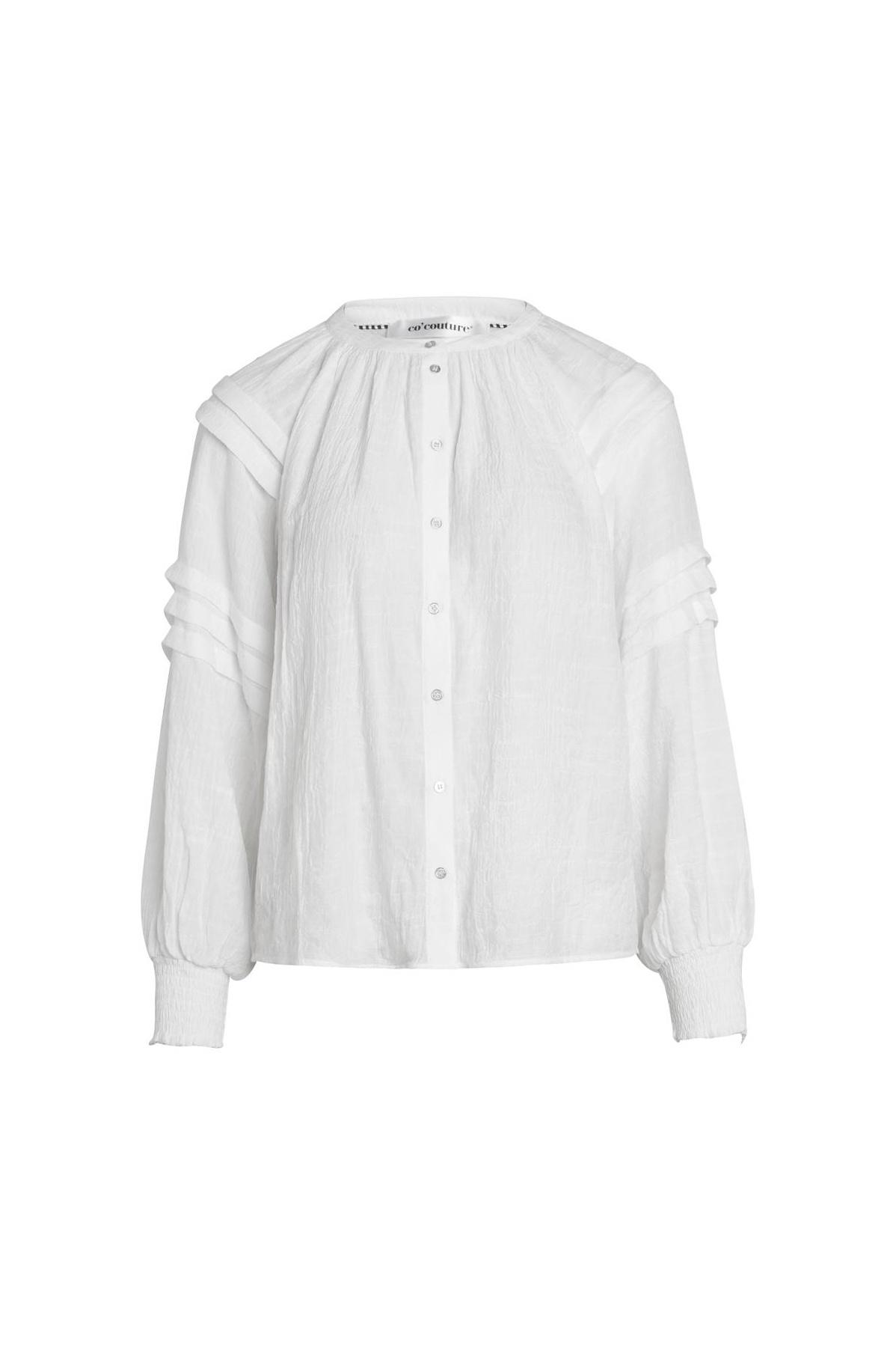 Cora Pleat Shirt - Off White-1