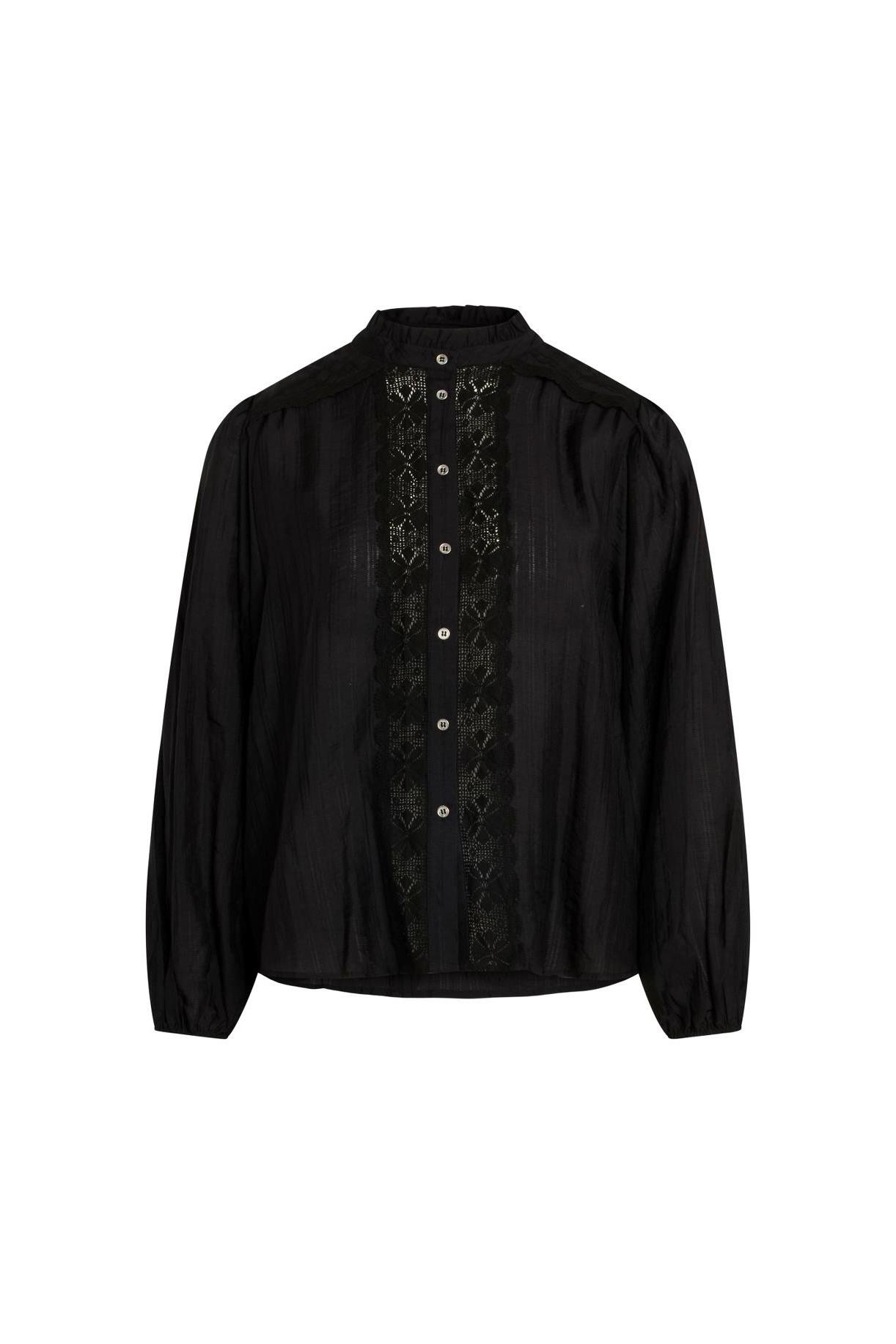 Lisissa Lace Shirt - Black-1