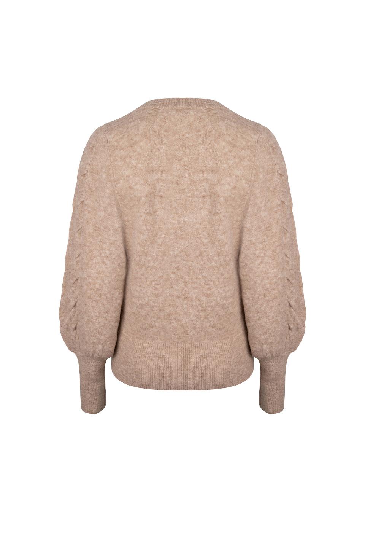 Broame Sleeve Braided Sweater - Beige Eclipse-4