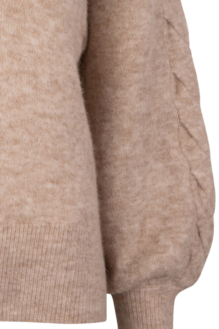 Broame Sleeve Braided Sweater - Beige Eclipse-3
