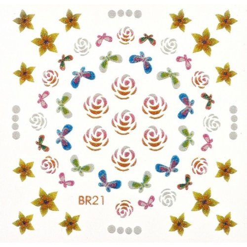 Astra Nails Astra Nails Art Sticker - B21 1pc